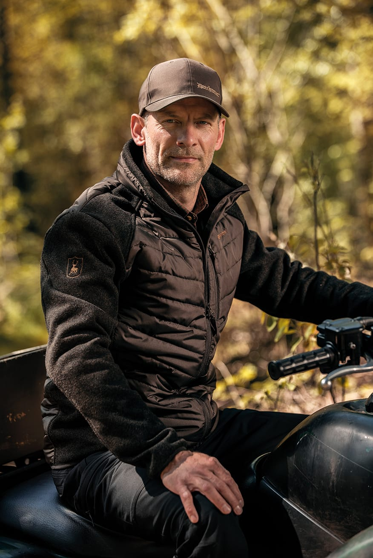 Deerhunter Mohr gef/ütterte Jacke w.Strick Holz